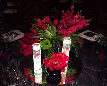 Rechargeable Party Centerpiece Lighting Remote Controlled Uplighter For Table Ornament