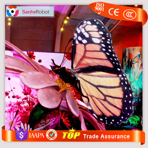Indoor playground equipment flower stand and artificial insects ,Butter-fly attraction