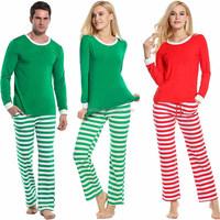 Family Christmas Pajamas Mom Dad Two Piece Striped Matching Family Pajama Set Sleepwear