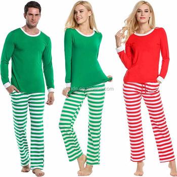 c5a9e01af8 Family Christmas Pajamas Mom Dad Two Piece Striped Matching Family Pajama  Set Sleepwear