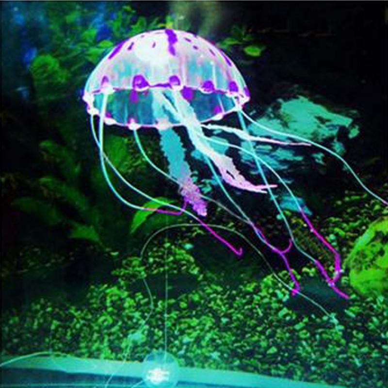 Glowing Effect Artificial Jellyfish For Aquarium