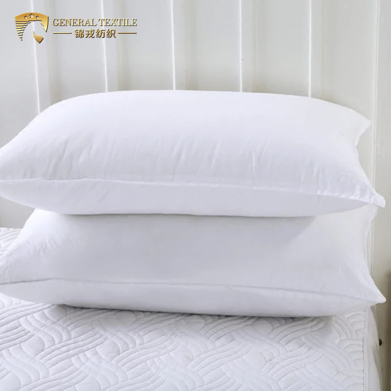 Wholesale Cheap Hypoallergenic 100% Cotton White Custom Hospital Microfiber Pillow