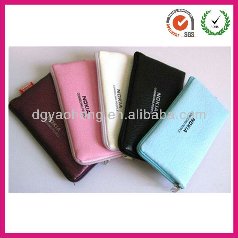 Strong artificial leather cellphone bag ,money bag
