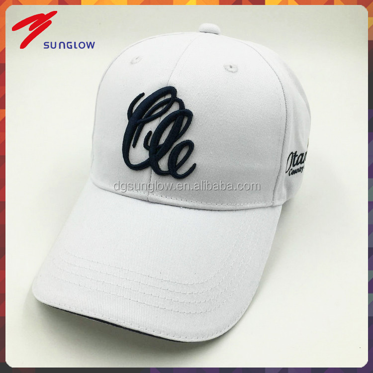 Wholesale 3D embroidery golf hats with adjustable closure for men sun protection