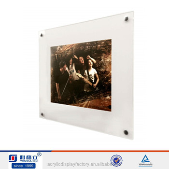 Wall Mounted Art Gallery Picture Frame Clear Acrylic Plexiglass ...