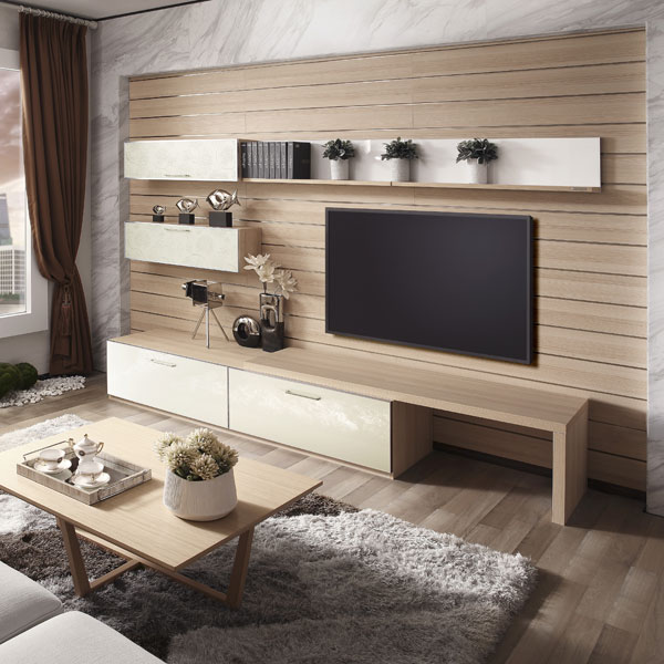 2017 new design living room modern corner wooden tv for Accent meuble la tuque