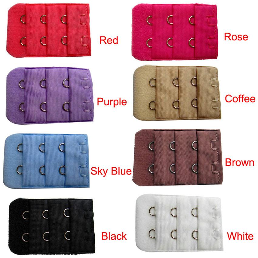 bd2e4fe0a0da3 Candy Color Women Bra Extension Lingerie Strap Extender Replacement ...