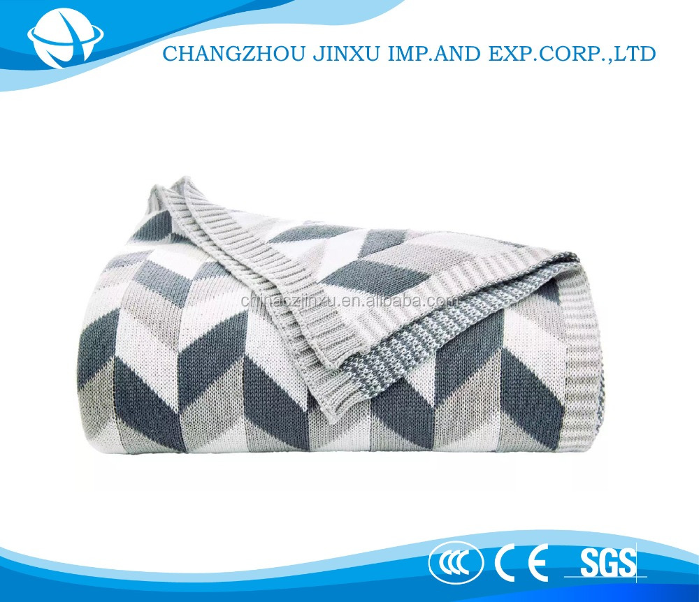 Wonderful quality cotton cable knit throw hotel blanket with fresh style pure white nature cotton