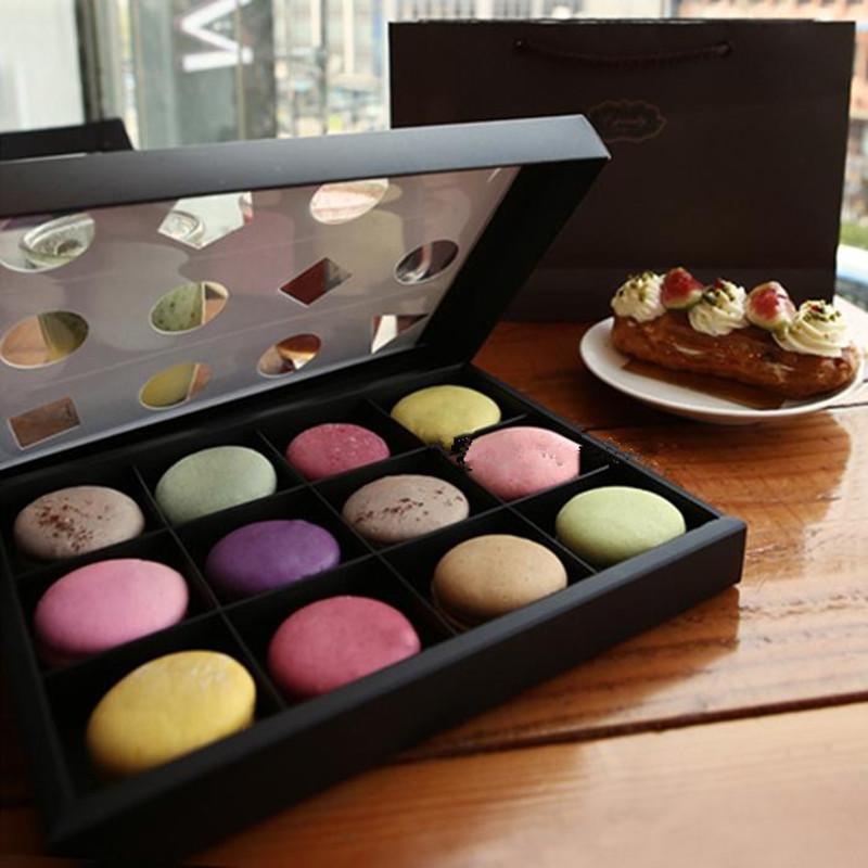 12 pcs Macaron Box Cake Paper Boxes DIY Cake Gift Cookie Macaron Food ...
