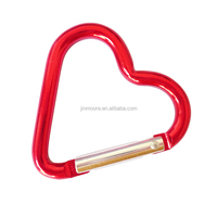 Outdoor Buckle D-Ring Heart Shape Carabiner Spring Snap Key Chain Clip Hook Lock
