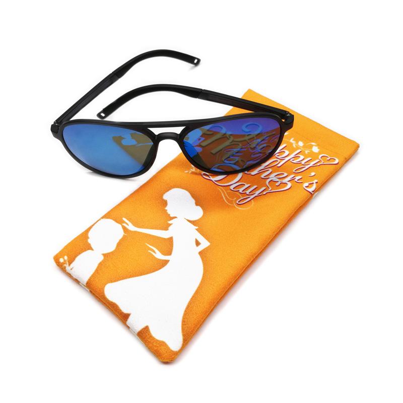 Presente da promoção Tecido primavera automático fechado estojo de óculos de sol