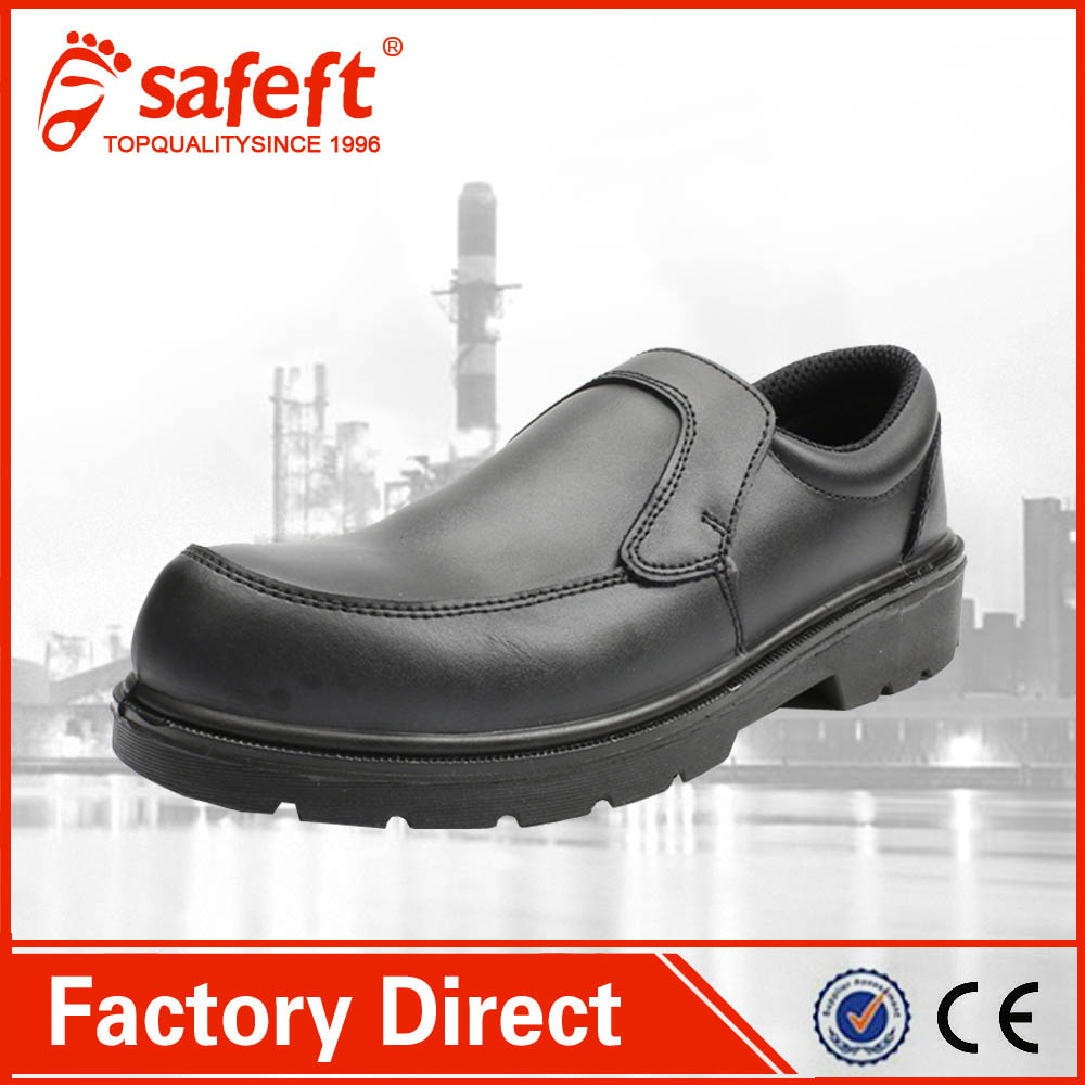 black office executive european police summer dress steel toe safety shoes
