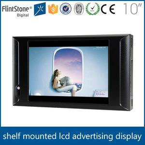 "Flintstone 10 inch lcd monitor pop display in retail stores shelf talker led screens 10"" lcd digital video pos displayer"