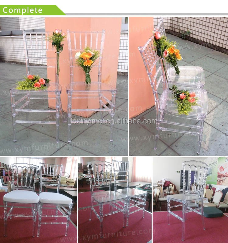 Manufacturer clear resin tiffany banquet chair for events