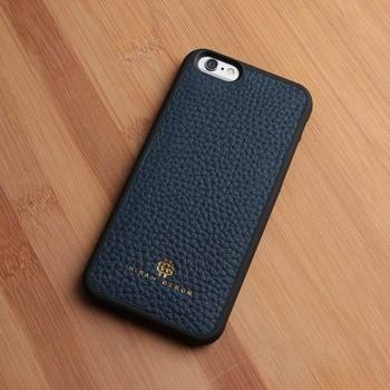 Genuine Cow Leather Unique Cell Phone Cases For Iphone 6 6s Blue Back Cover