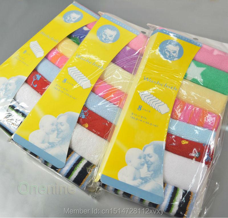Тряпка для мытья посуды полотенца купания кормление комплект мягкой ткани новорожденный ребенок ванна ( 8 шт. )