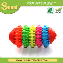 Cheap wholesale dog toys colorful gear chew bones