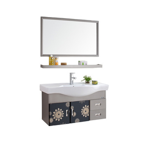 #T-004 Foshan factory wholesale bathroom vanity modern hotel vanity bathroom