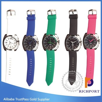 Sport Japan Movement Rubber little boy ,girl crystle Watch