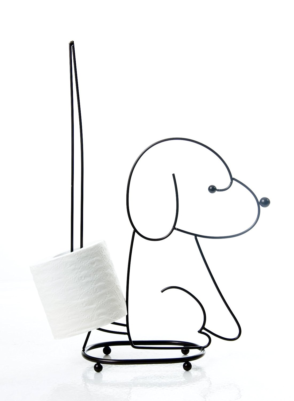 Taymor Standing Dog Toilet Tissue Holder, Chrome