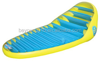 Banana Type Inflatable Beach Pool Lounge/inflatable Pool Lounge Chair