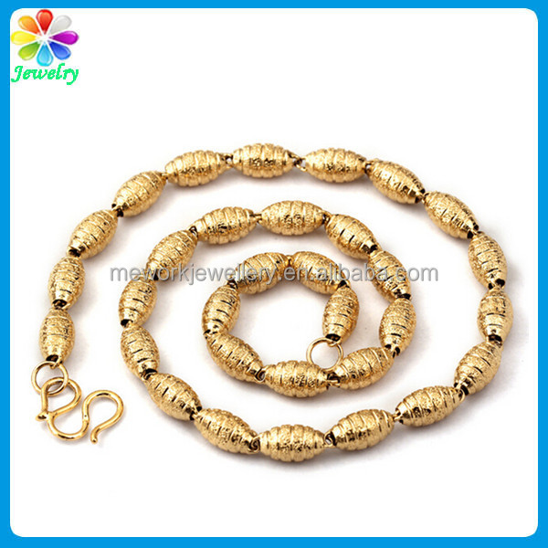 MAN Big boy shell casing bead stainless steel chain necklace