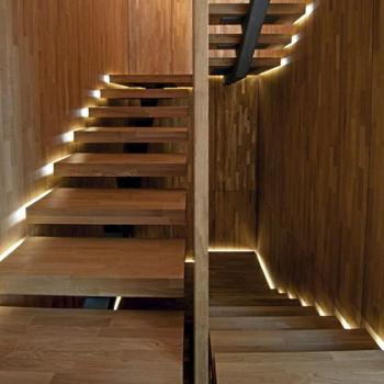 Moderne Simple Stringer Escalier En Acier De Maison Avec Bande De Roulement  En Bois Massif - Buy Escalier En Acier,Escalier En Bois,Escalier Moderne ...