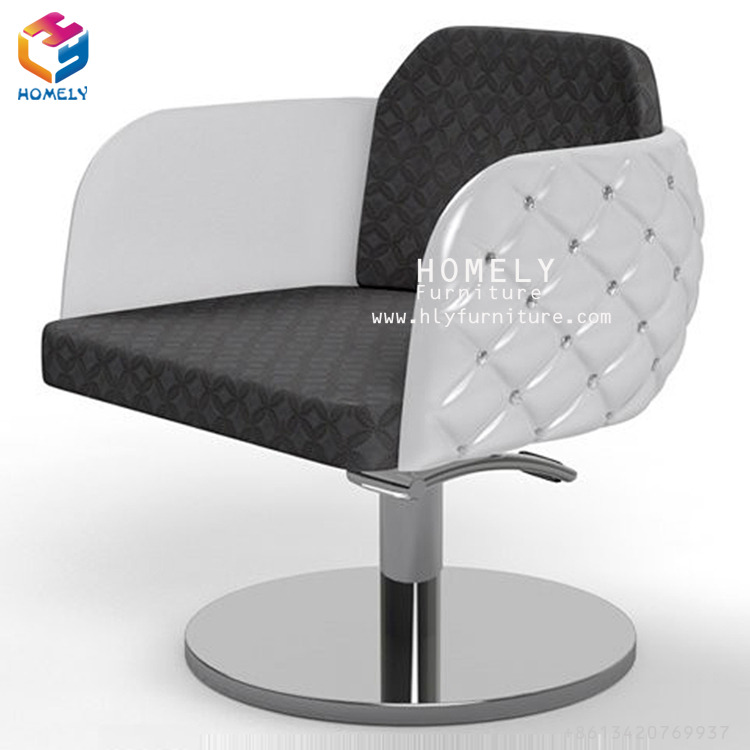 Homely Modern Salon Styling Hydraulic Chair White Chair