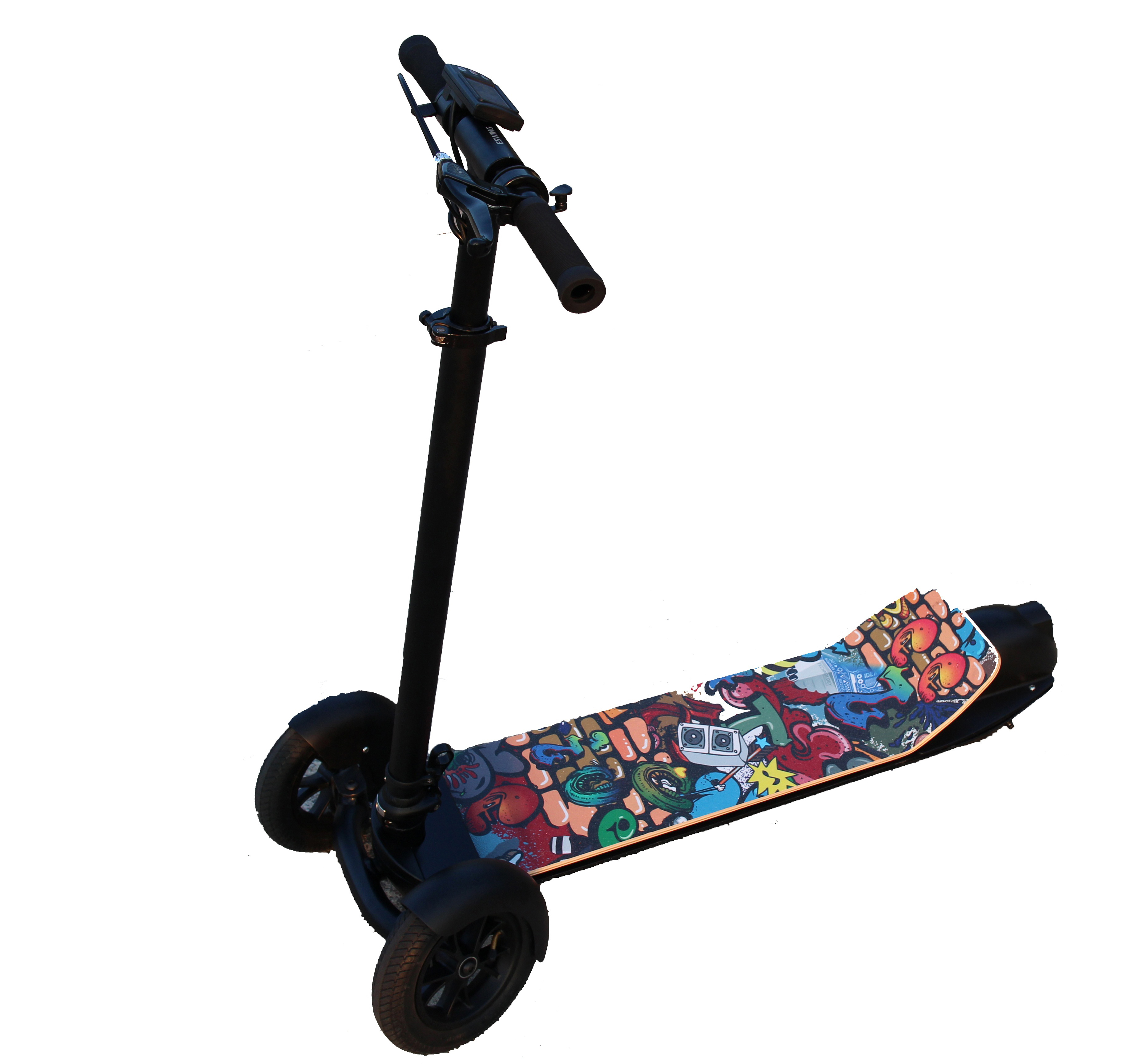 China wholesale cheap 8.5 inch fat tire mobility adult three wheel electric scooter, 5 optional grips or pure black