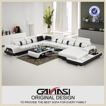 Modern Leather Sofa Furniture From China Set