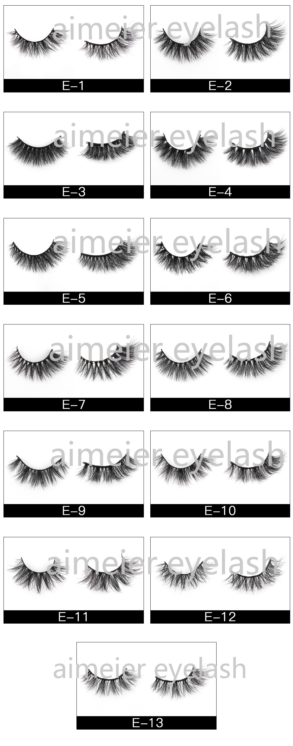 Lash Suppliers Vendor Wholesale 100% 3d False Mink Eyelash Private Label  Mink Individual Eyelashes Packaging Box A06 - Buy Private Label