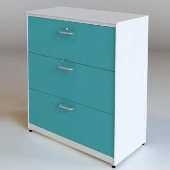 Lateral Filing 3 Drawers Mobile Pedestal Cabinets Steel Hanging Chest Of Drawer  Cabinet