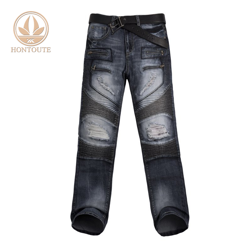 e3b057f7a4 Venta caliente de moda de alta calidad Jeans de moda de cuero de vaqueros  holgados pantalones