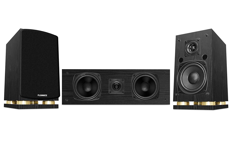 Fluance Classic Elite Series Center Channel & Surround Sound Speakers (Black)