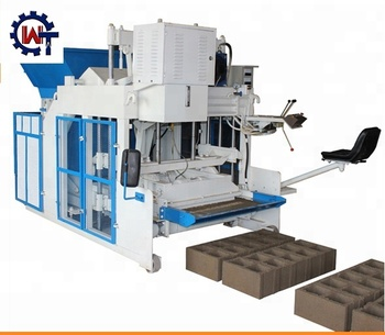 WANTE BRAND WT10-15 Hydraulic Mobile Moving Egg Laying Concrete Hollow Block Making Machine