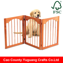 Classic Arch Deco Foldable Freestanding Wooden Pet Dog Gate