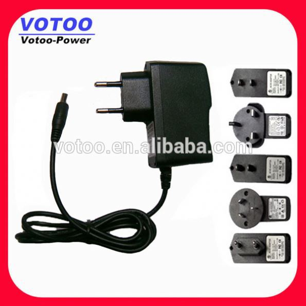 Wall plug-in power dc adapter 6v 500ma adapter for digital camera