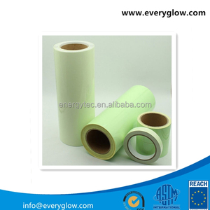 High intensive glow self-adhesive luminescent Vinyl Film for fire signs LB-G61050H 610MM width 50m length yellow-green color