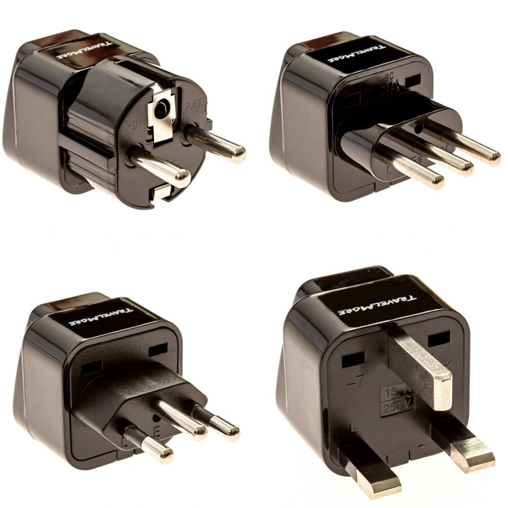 Italy Germany Type F Poland Type E Europe Plug Adapter Works in France Netherlands Russia /& More Type C Spain 2 Pack European Travel Adapter Plug for European Outlets Belgium