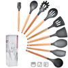 A-9pcs Silicone Cooking Kitchen Utensils Set