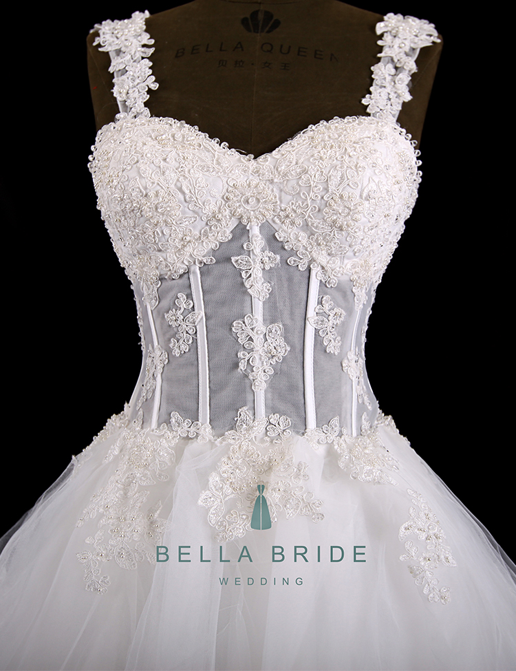 Alternative Wedding Dress Tiered Wedding Ball Gown Vintage Corset