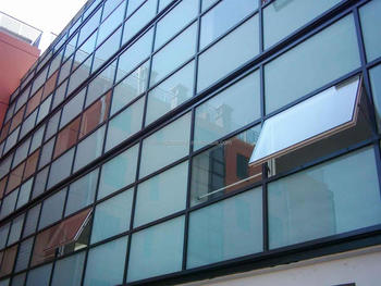 Aluminum Curtain Wall Design : Aluminum frame glass curtain wall custom design and installation