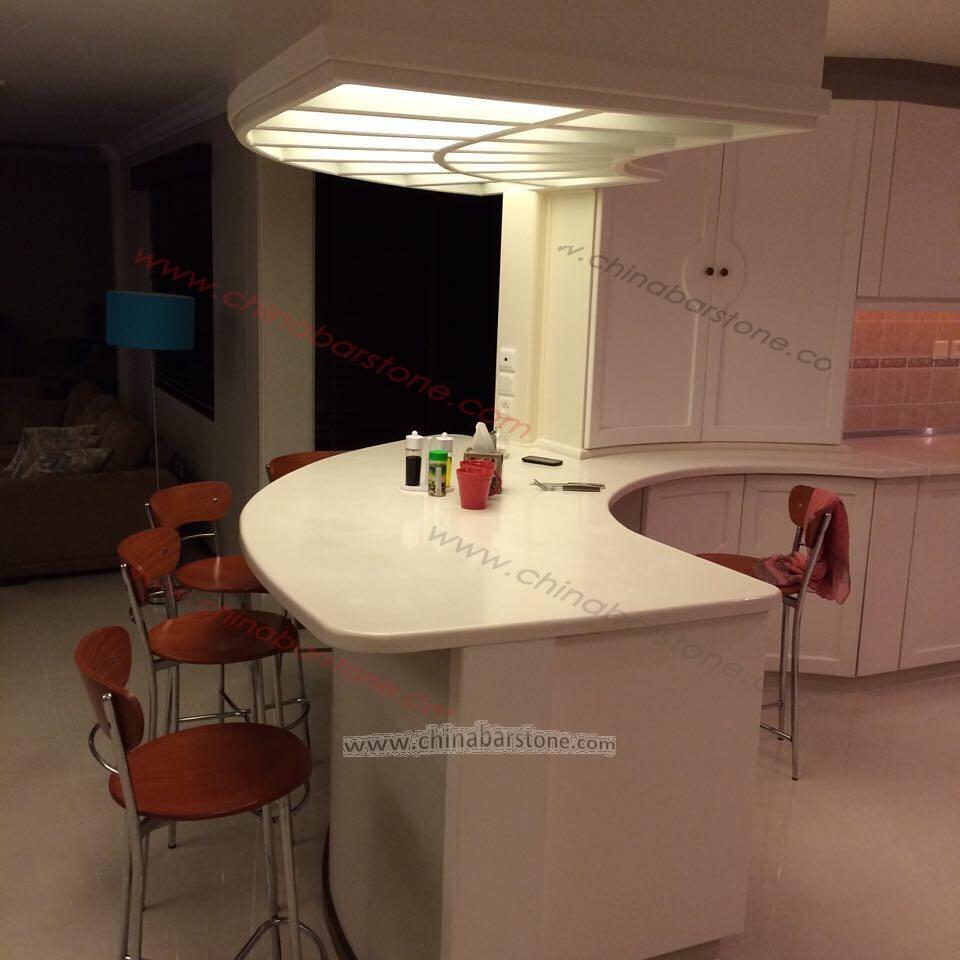 Elegant white curved home modern bar furniture