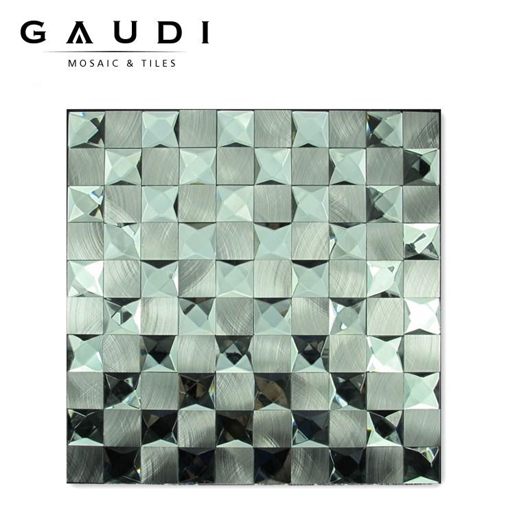 Miroir mélange couleur cristal verre mosaïque carrelage ...