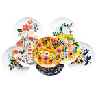 Awalong vintage colorful ceramic 10 inch bone china plate home decor