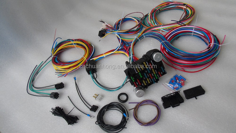 Cnch Performance 10106 22 Circuit Wiring Harness For 1975  U0026 Later Cj Jeeps