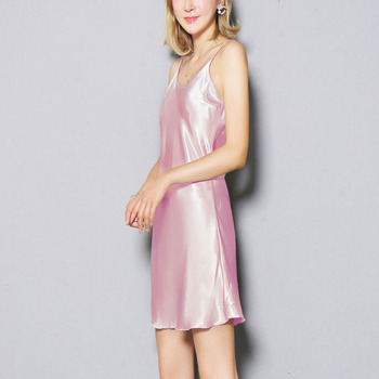 Made in China Custom Made Pajamas Silky Dress Satin Slip Skirt