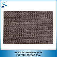 PVC Form Leather mat custom wholesale blank bamboo coasters dining table