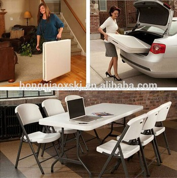 Astonishing White Plastic 6Ft Folding Table Chairs For Banquet Event Party Camping Buy Used Folding Tables Chairs Plastic Folding Table And Chair White Plastic Spiritservingveterans Wood Chair Design Ideas Spiritservingveteransorg