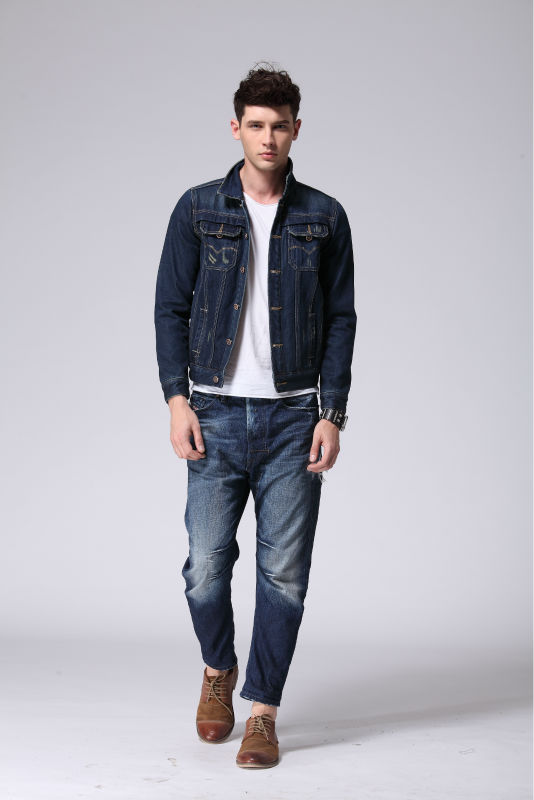 2015 Top Quality Hot Sale Jean Jacket For Men T22